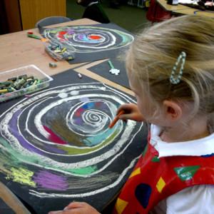 Exploring soft chalk pastels.
