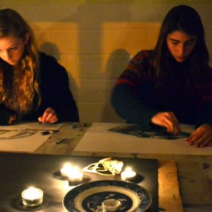 "Teenagers learn about chiaroscuro by drawing skulls in candle light using charcoal and pastel.  This session was made possible by the stunning loan of zoological skulls on from the University Museum of Zoology, Cambridge. This post was contributed by Sheila Ceccarelli and AccessArt's Experimental Drawing Class  [themify_button style=""xlarge block"" link=""/drawing-skulls-in-candle-light-2/"" color=""#78608e"" text=""#ffffff""]Read More[/themify_button]"