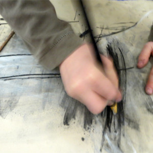 Enjoyable warm up drawing exercise which introduces children to using charcoal via easy steps.