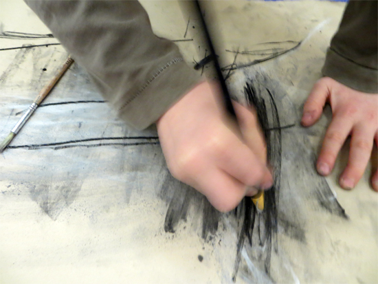 Discovering what charcoal can do...
