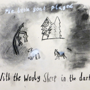 Using descriptive sentences and charcoal to create atmospheric illustrations