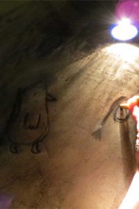 Drawing by torchlight