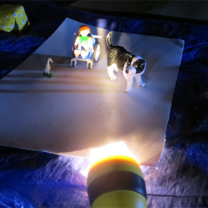 Drawing toys by torchlight