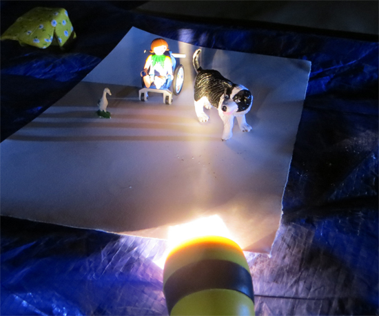 This resource explores how children can create illustrations based upon drawings of toys (playmobil, farm animals etc) using charcoal and torchlight.