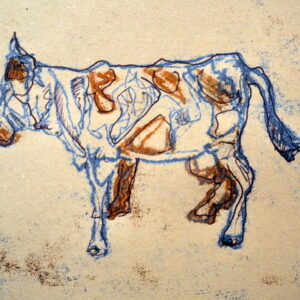 Monoprinting farm yard animals