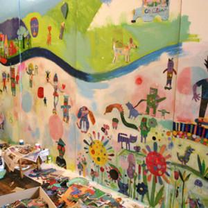 Creating murals in schools
