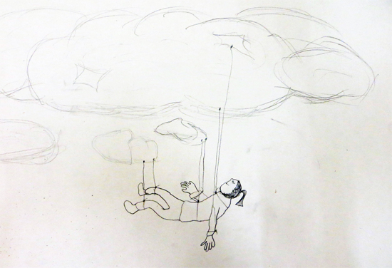 Imagine you are as light as a cloud. How would it feel to be taken on a journey by a cloud?