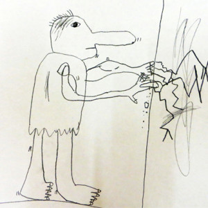 """Helping children push their drawings out of their """"safe"""" zone."""