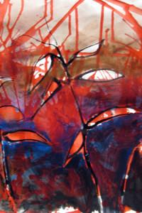 Sara's example of an individual layered painting