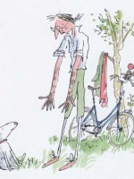 Image (c) Quentin Blake, 1987 from 'Mrs Armitage on Wheels' (published by Jonathan Cape)