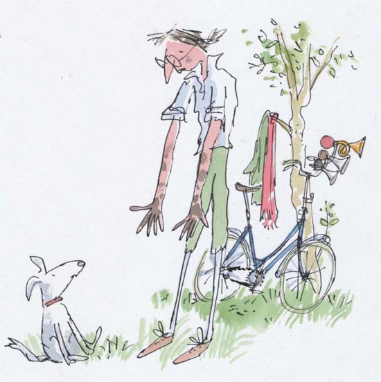 Inspired by Quentin Blake's Drawings: Image (c) Quentin Blake, 1987 from 'Mrs Armitage on Wheels' (published by Jonathan Cape)