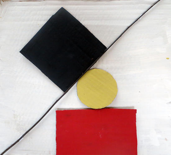 Colour composition inspired by Ben Nicholson
