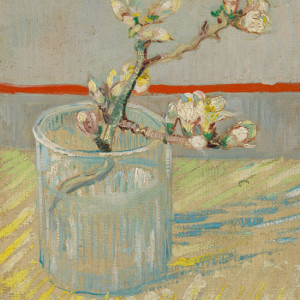 Inspired by Vincent van Gogh, children use oil pastel and linseed oil to work from a still life.
