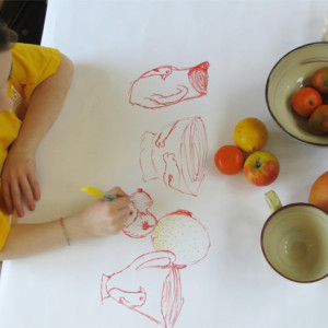 Multi colour, intuitive drawings to explore gestural (sketchy) mark making.