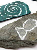 Drawing on Pebbles to Make Treasured Fossils