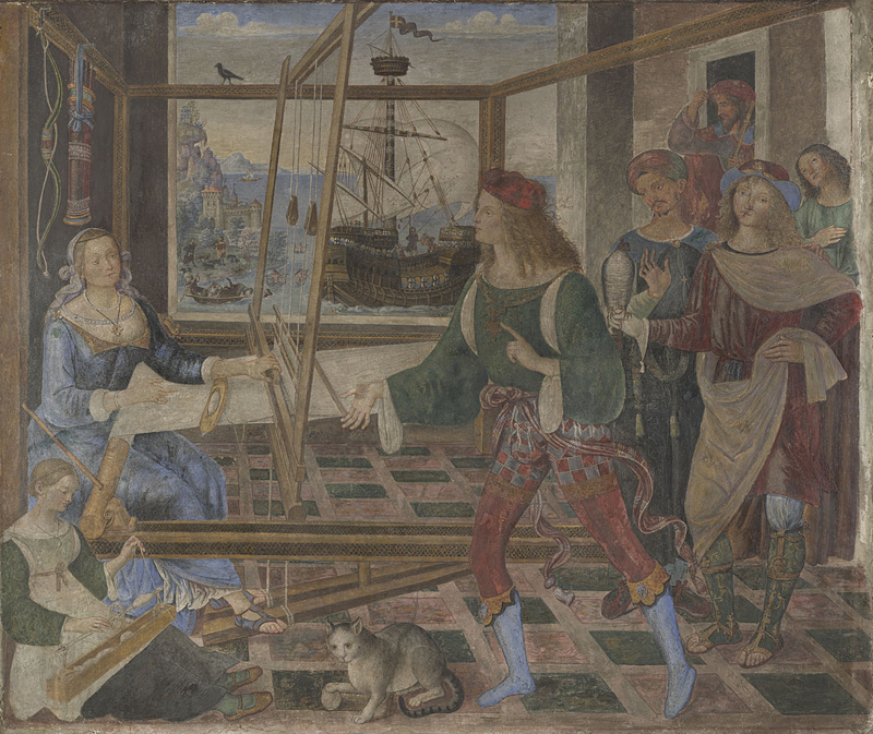 Penelope with the Suitors about 1509, Pintoricchio