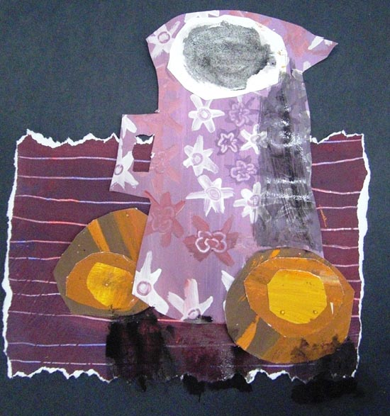 Finished collage still life