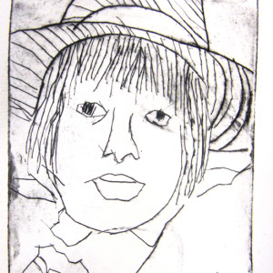 Artist, Maureen Crosby shares a simple and accessible printing process to enable children to make small, etched self-portraits.  Exhibiting the prints altogether also creates a wonderful group portrait full of character!