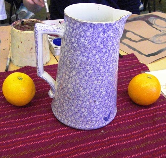 Still life with pattern, colour and form