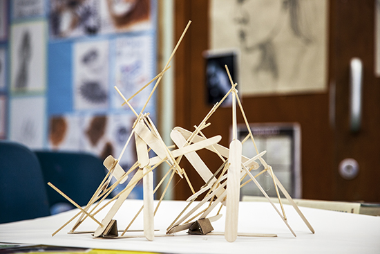 Sculptural construction by student of Swavesey Village College