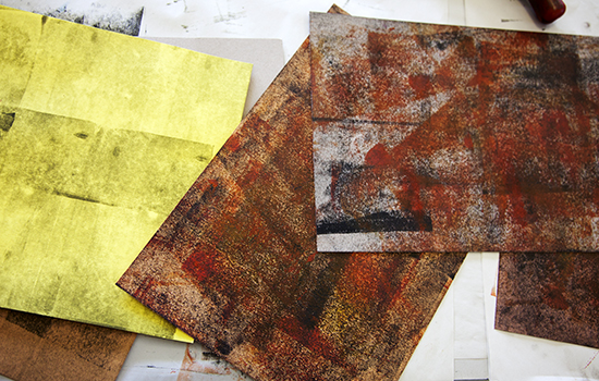 Textures created using mono printing
