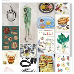 Upload your favourite drawings of food on our #DrawMyDinner Pinterest board. This is a group board so if you'd like to upload pls email us at info@accessart.org.uk with your pinterest username or email address and we'll send you an invite. Don't forget to follow AccessArt's board #DrawMyDinner on Pinterest.
