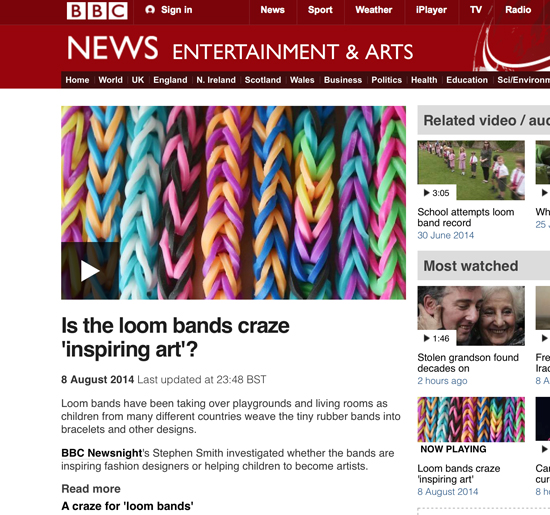 Is the loom bands craze 'inspiring art'?