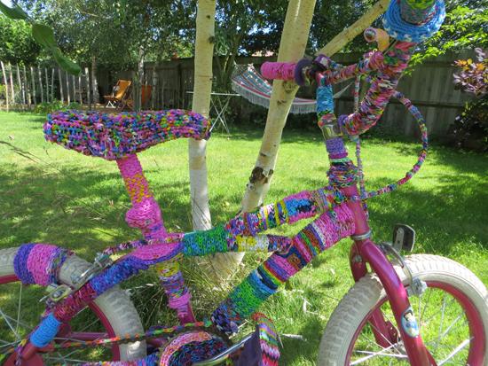 Loom bands sculpture