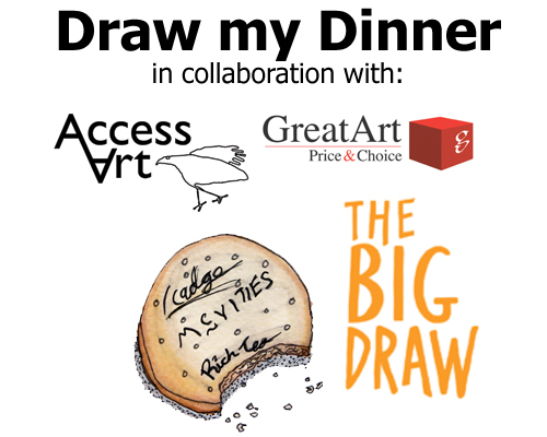 "The ""Draw My Dinner"" Big Draw 2014 with AccessArt!"