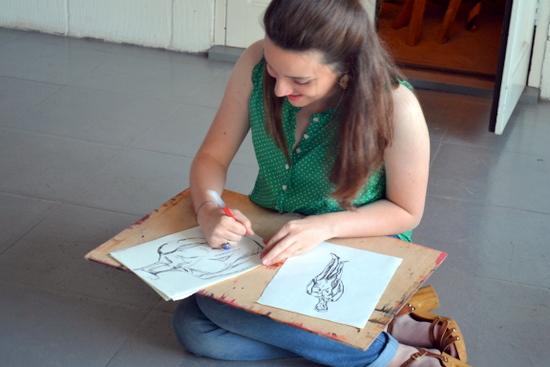 Libby draws the Mitcham's Models