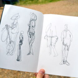Teenagers take their sketchbooks into the streets