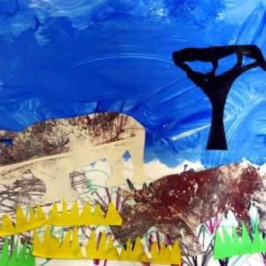 drawing the savannah landscape