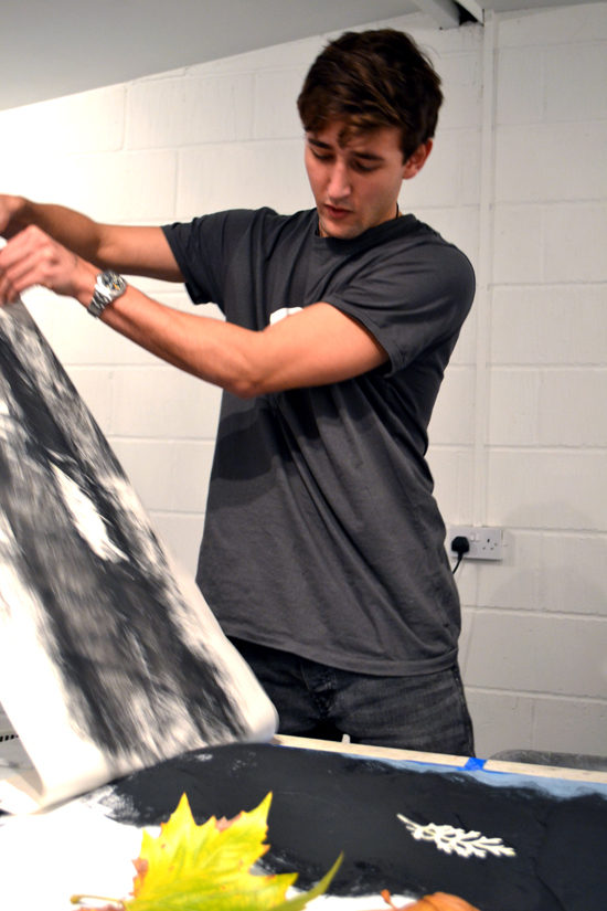 Sheila Ceccarelli shares how she gave teenagers the opportunity to explore expressive mark making and monoprinting on a large scale.