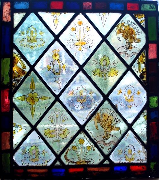 Window at the Leach Brother studio, City Road, Cambridge