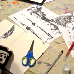 Sheila Ceccarelli uses photocopies of drawings to help pupils develop their ideas