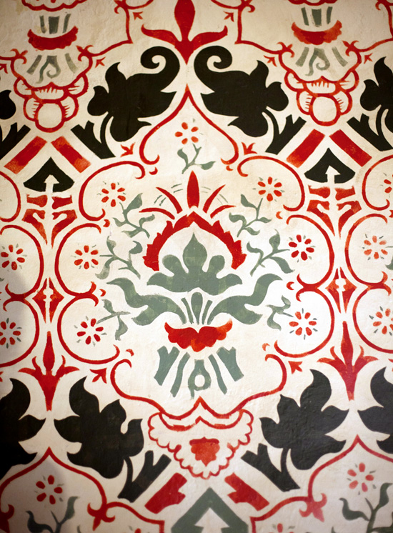 Wall decoration painted in Queens College, Cambridge
