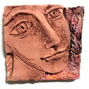 Exploring ways to make portraits using clay