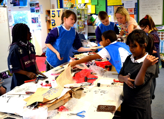 Jo Allen gets pupils to explore relief printing and creating textured, printed paper