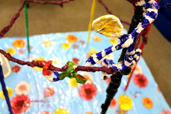 'Offering a helping hand' - The Friendship Tower by pupils at South Wilford Primary School with Rachel Scanlon
