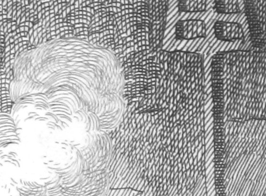 Detail of photocopied and enlarged engraving marks (taken from George Cruickshank's illustrations for Oliver by Charles Dickens)