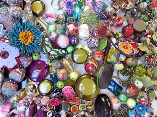 Lovely floral mix of bright spring-like colours and textures. Smaller more intricate pieces and larger forms.