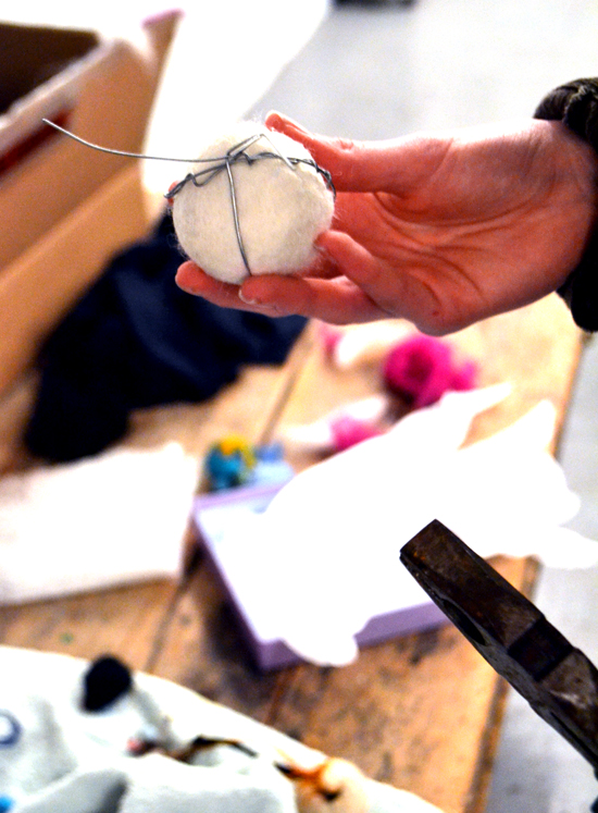 In this exciting workshop, students developed their felt-making skills and knowledge and transformed a selection of materials into beautiful, small-scale felt sculptures.