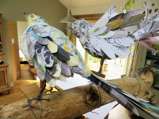 Paper Bird Sculptures