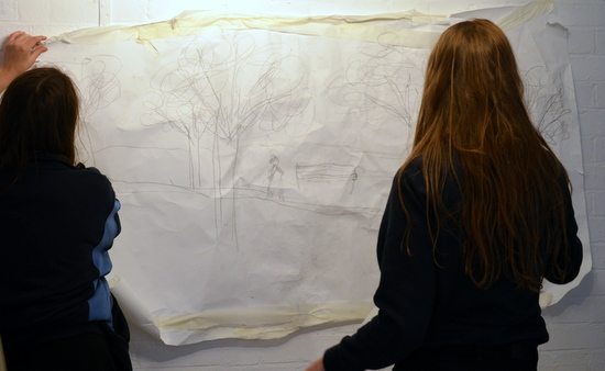 Windy day drawings at ArtWorks