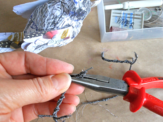 Making feet from wire