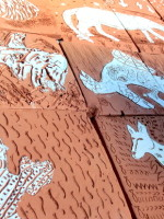 Chimera Drawings into Beautiful Terracotta Tiles