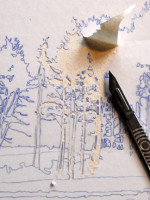 Making a Collagraph Print by Suzie Mackenzie