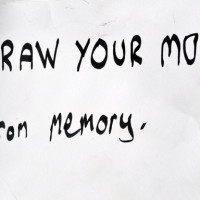 Draw your mum from memory - Drawing prompt by teenager at AccessArt's Drawing Class for Teenagers