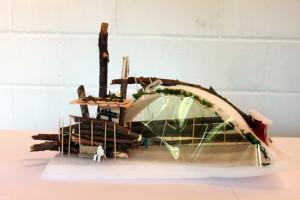 Final model using wood, foam, plastic and glue - susie olczak