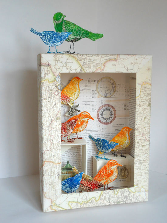 A beautiful resource developed from the bird box constructions of Joseph Conell and suitable for all ages.  Make your own aviary by decorating a recycled box and filling it with colourful lino printed birds.